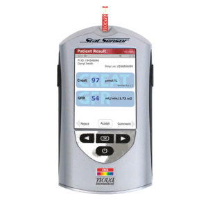 StatSensor® Connectivity Kreatinin Teststreifen-System für den Point-of-Care.